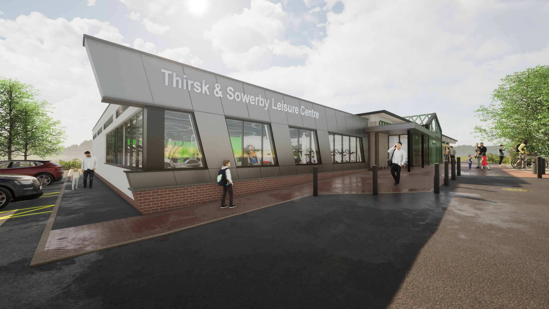 Thirsk sowerby leisure centre facelift concept