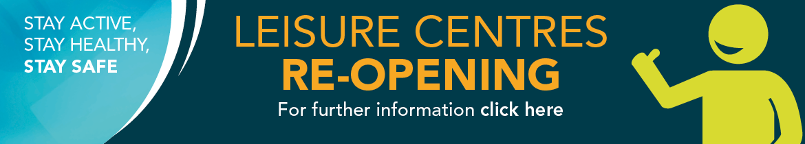 Leisure centres reopening web banner